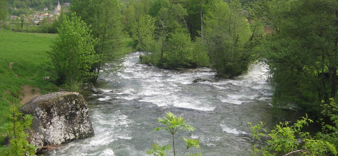 Paysage d'Ercé en Ariège